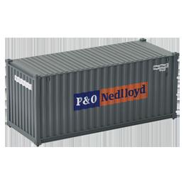 Container 20 pieds P&O Nedlloyd gris